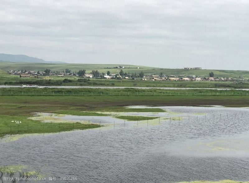 边境湖泊图片