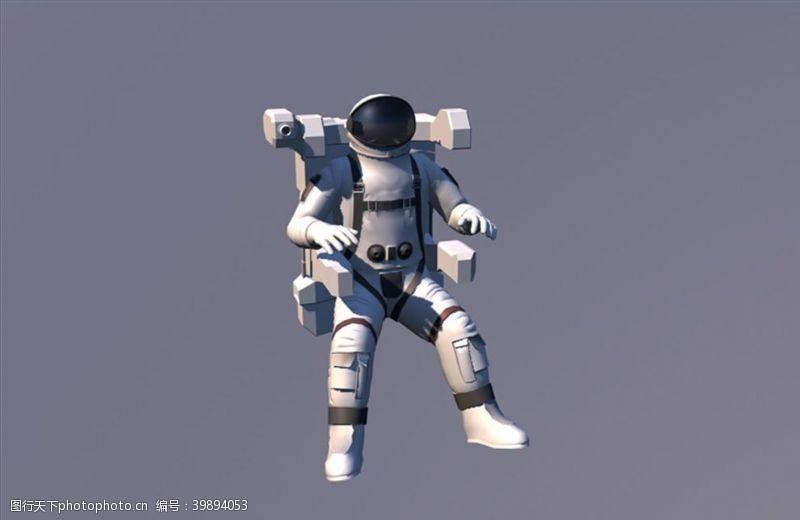 人物图片素材C4D宇航员模型人物图片