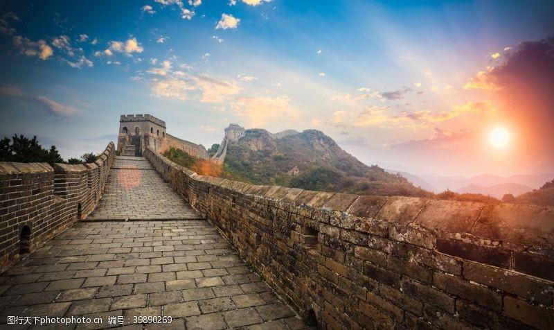 城墙长城风光图片