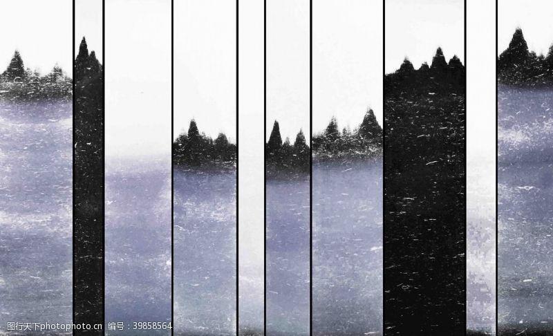 高温抽象山水背景墙图片