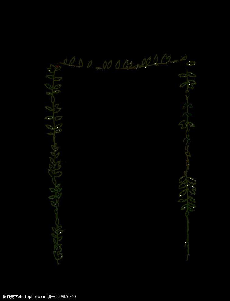 植物边框花藤素材图片