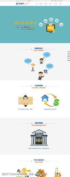 网页模板金融投资网页图片