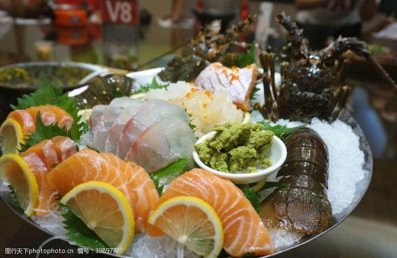 中国龙虾综合刺身图片