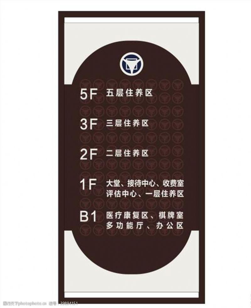 停车场指示楼层索引图片