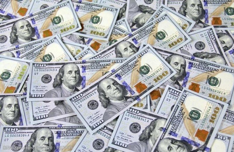 财富美金钱图片