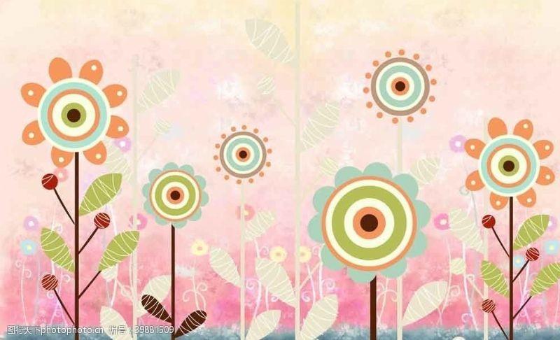 装饰画太阳花图片