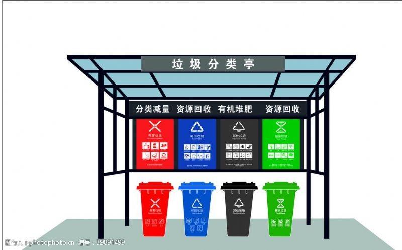 新农村建设垃圾分类亭图片