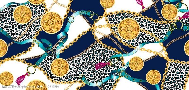 大门设计豹纹链条方巾图片