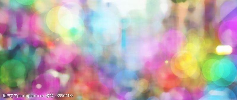 彩色光晕图片