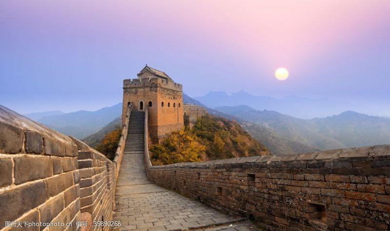 城墙长城日出图片