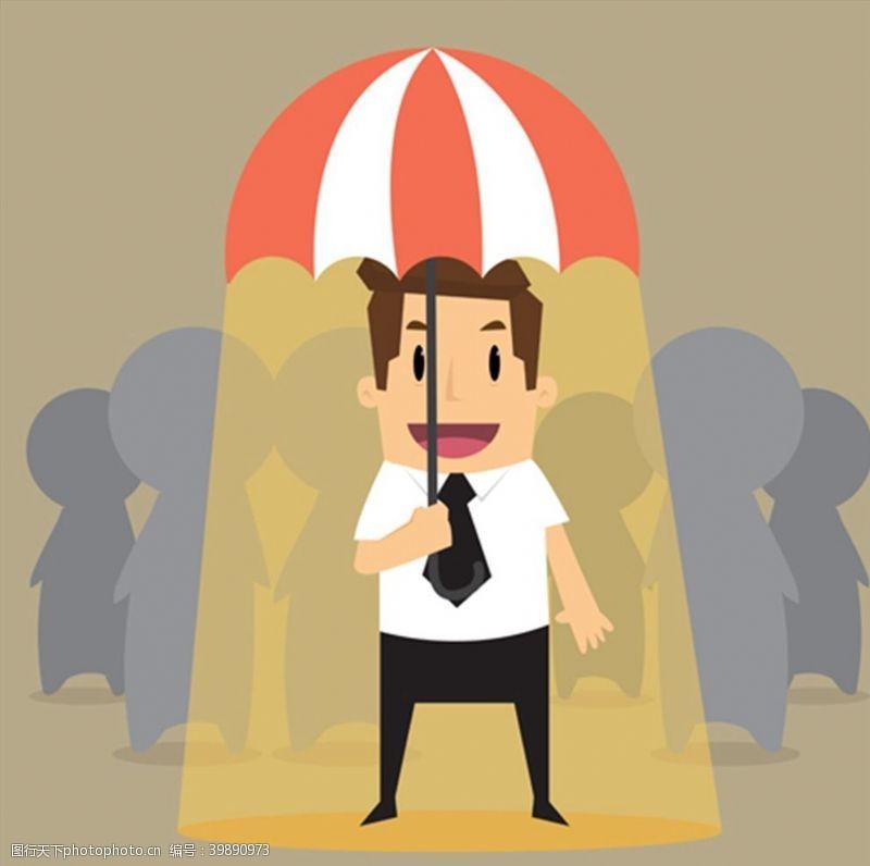 撑伞商务人物图片