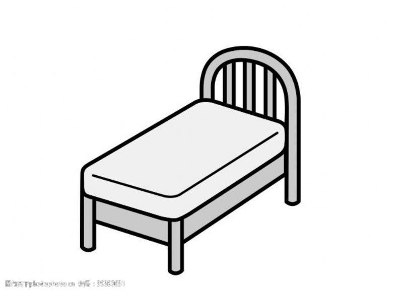 天气单人床图片