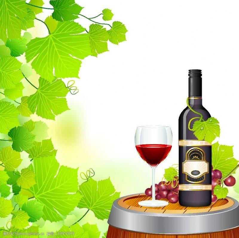 eps格式红酒图片