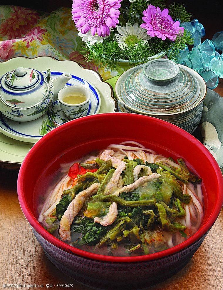 沪菜雪菜肉丝面图片