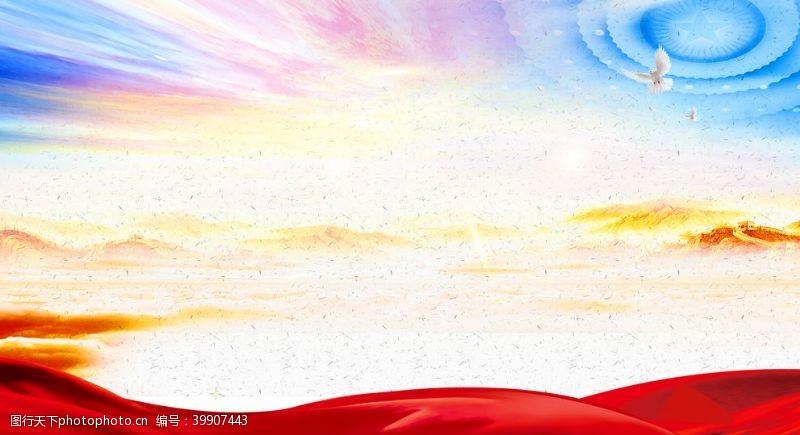 辉煌大气形象宣传背景效果图图片