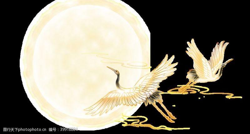 驾鹤西行奔月透明底图片