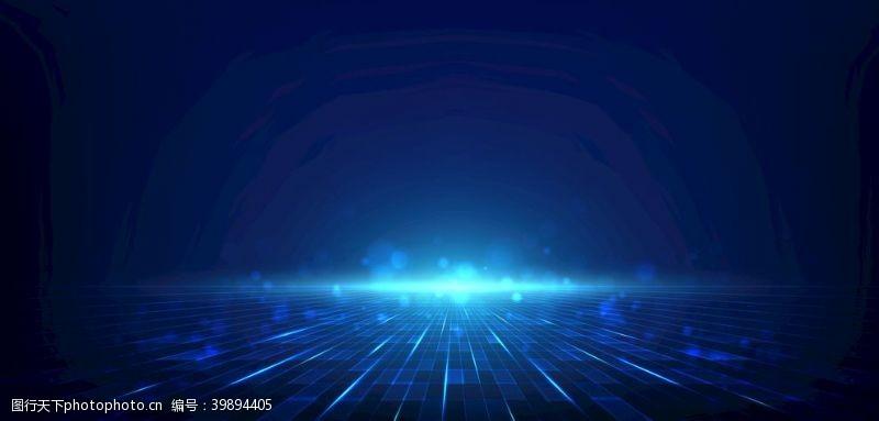 峰会蓝色科技背景图片