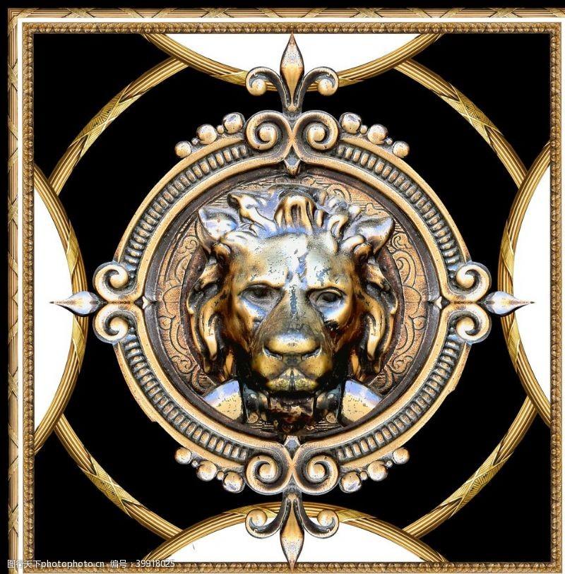 大门设计老虎头图片