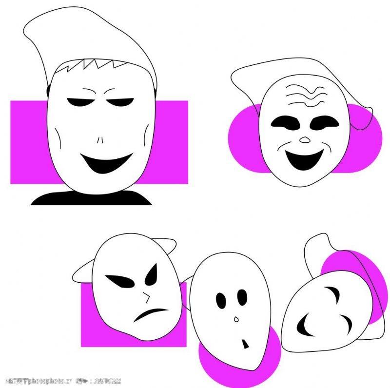 卡通动漫面具图片