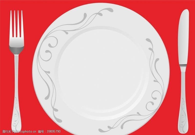 西餐餐具盘子图片