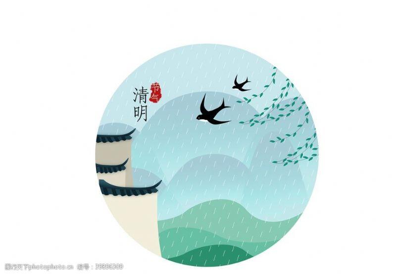 手绘中国风插画图片