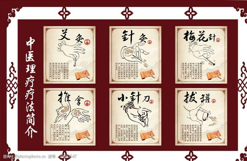 中医海报中医理疗手法图片