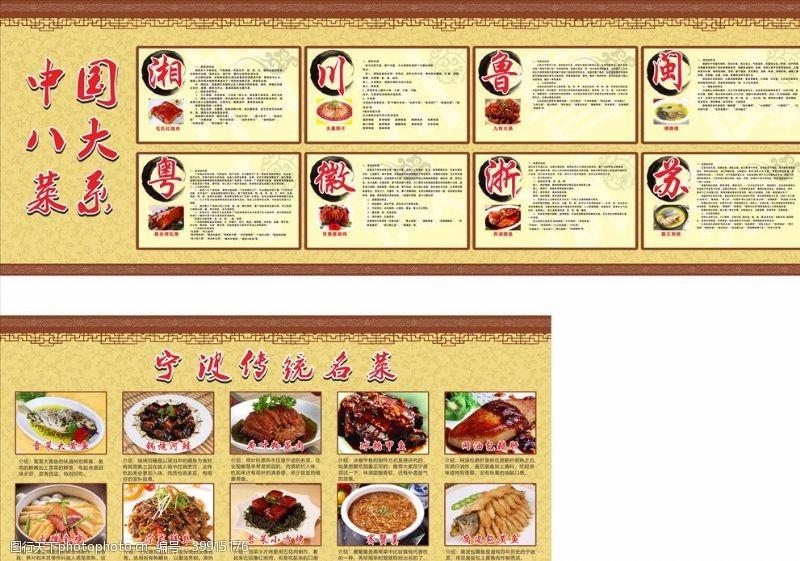 古典底纹八大菜系图片