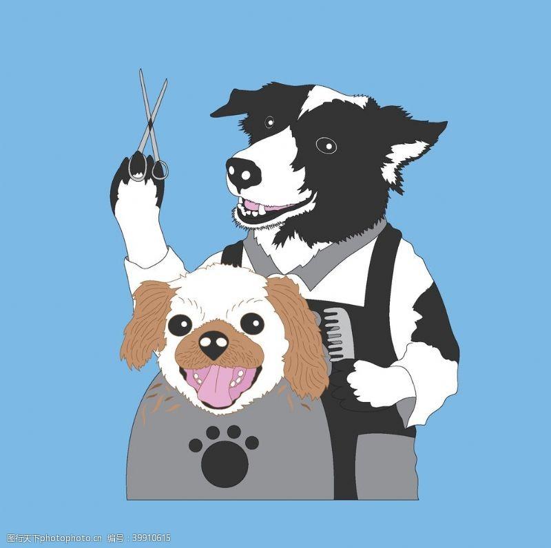 卡通动漫狗图片