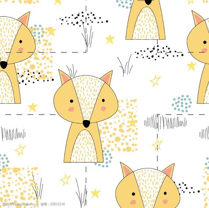 卡通图案狐狸图案图片