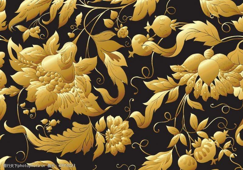 大门设计金色花图片