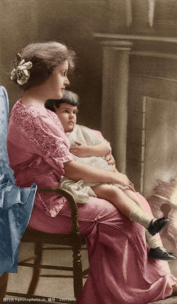 古典风格母与女图片