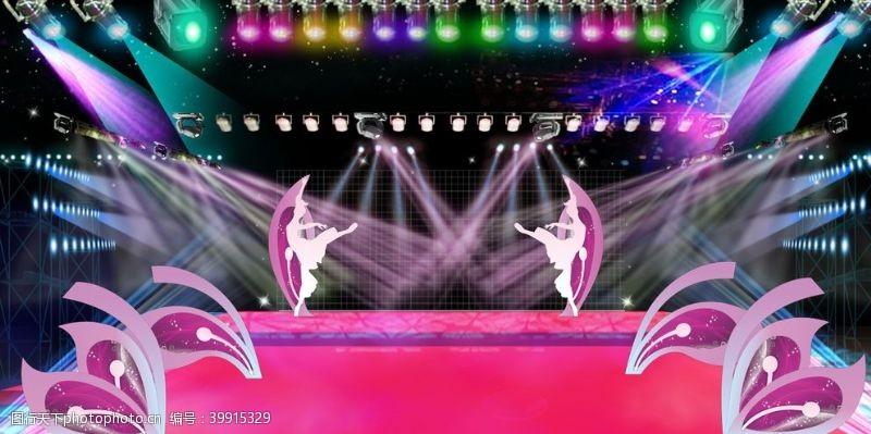 舞蹈演出舞台背景图片