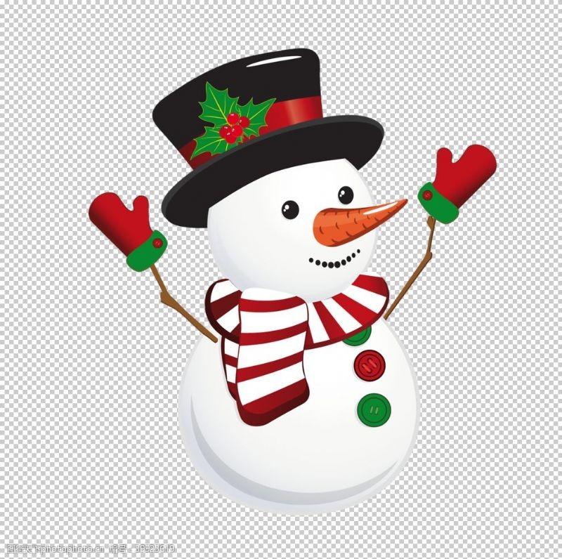广告背景雪人图片