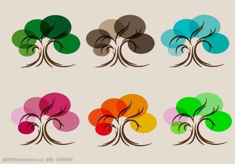 矢量大树创意树图案图片