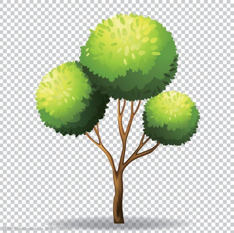 矢量大树卡通树矢量图图片