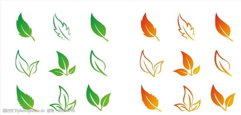 春意矢量树叶图片