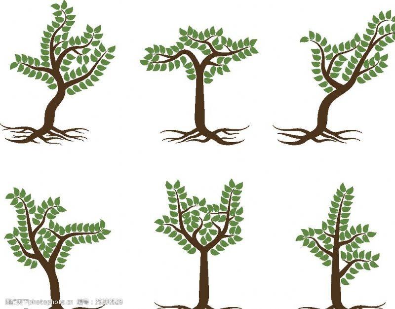 矢量大树手绘卡通树图片