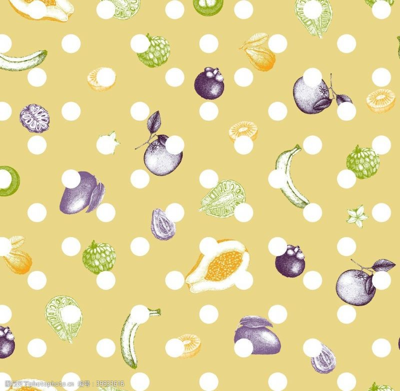 香蕉数码印花图片