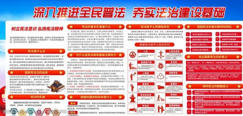 法制宣传宪法日宣传栏图片