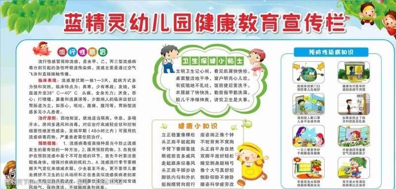 流行幼儿园健康教育宣传专栏图片