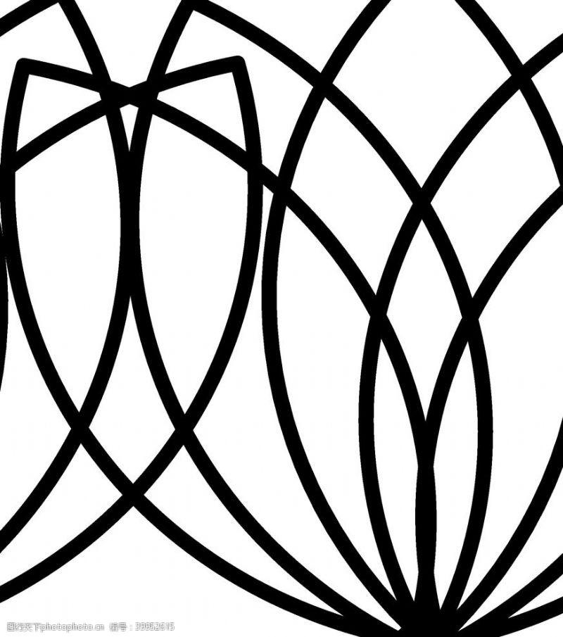 面料印花抽象花纹背景图片