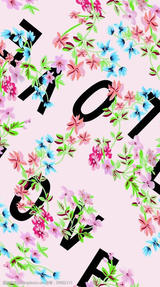 英文大牌花朵图片