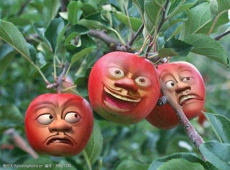 肢体搞怪苹果图片