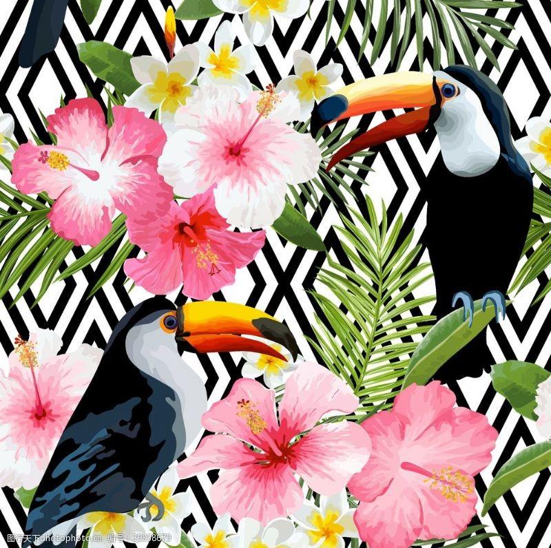 棕榈叶花卉图片