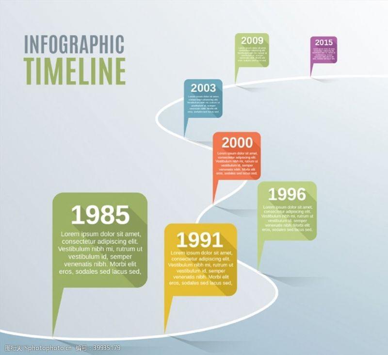表1时间轴商务信息图图片