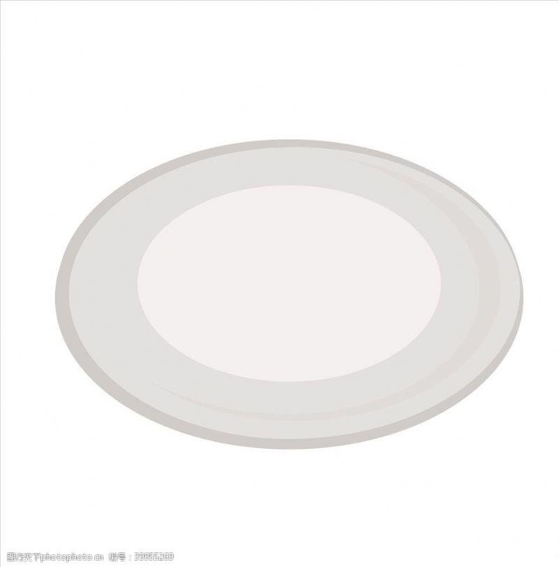 西餐餐具矢量盘子图片