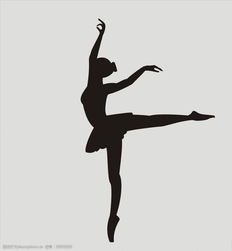 跳舞剪影跳舞舞蹈图片