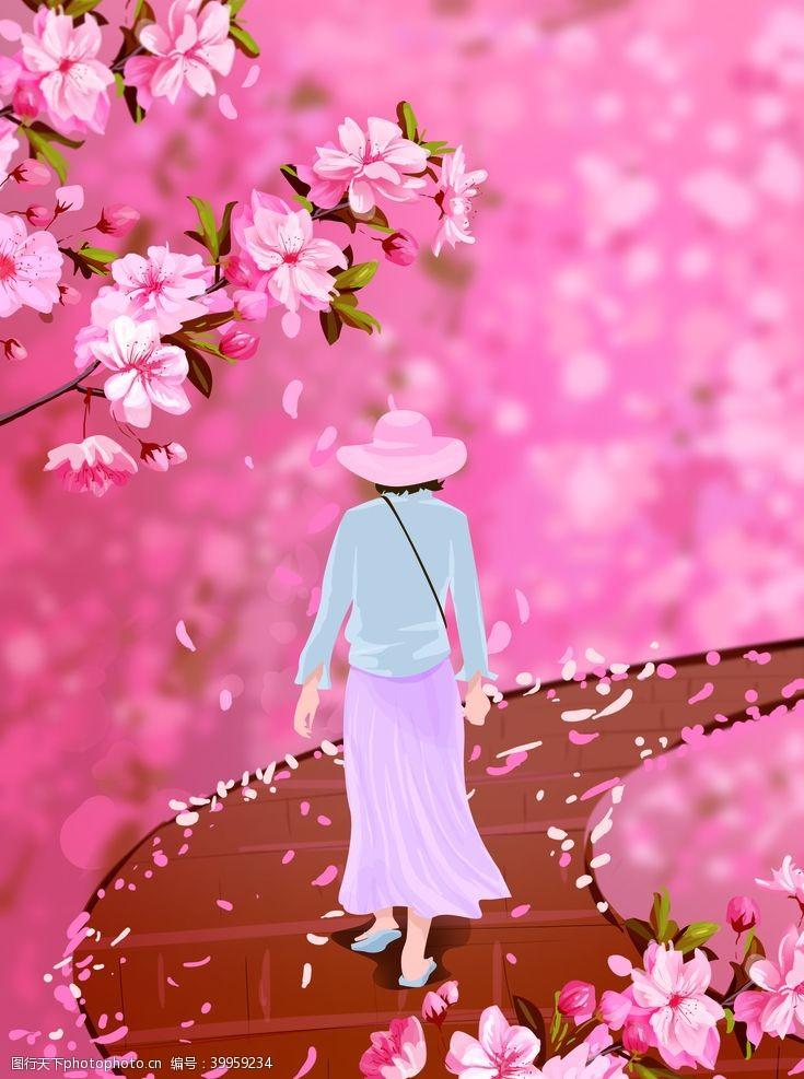 樱花背景樱花图片