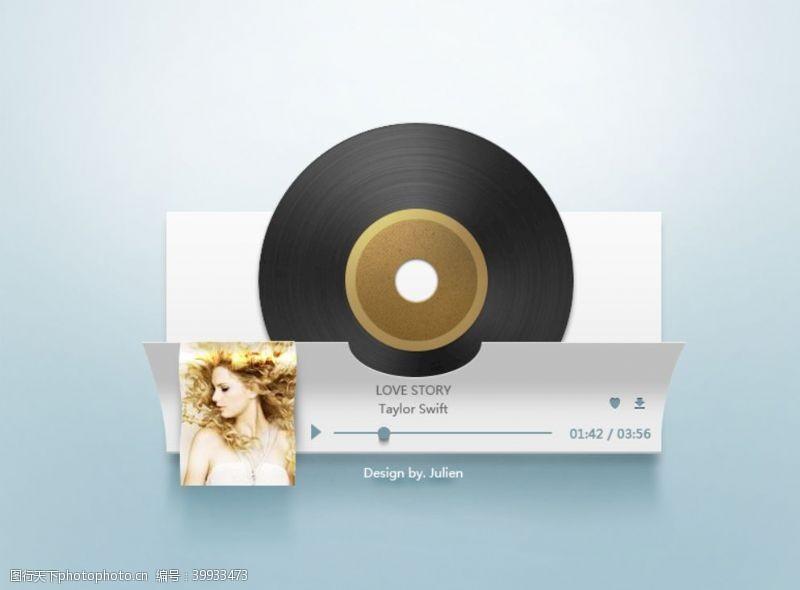 图标设计音乐界面UI图片