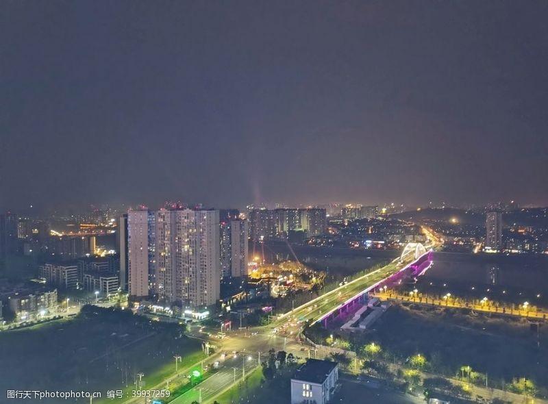 城市流光城市夜景图片